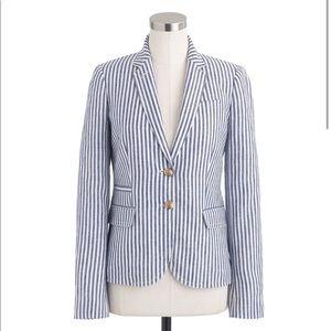 J. Crew |The School Boy Blazer Striped 100% Linen